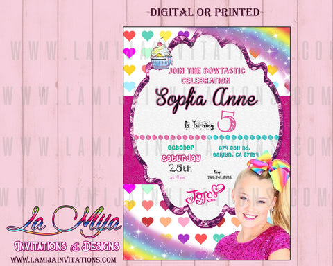 Jojo Siwa Invitations,  Customized Item, Jojo Siwa Birthday Invitations, Jojo Siwa Party, Jojo Siwa - Addi Creations