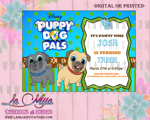 Puppy Dog Pals Invitations, Puppy Dog Pals Birthday Invitations, Puppy Dog Pals Party Invites, Invitaciones Puppy Dog Pals