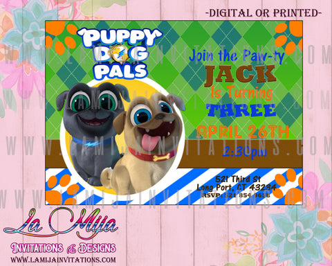 Puppy Dogs Pals Invitations, Puppy Dog Pals Birthday Invitations