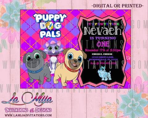 Puppy Dog Pals Invitations, Puppy Dog Pals Birthday Invitations, Puppy Dog Pals Invites