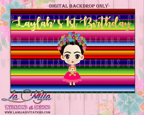 Frida Kahlo Party, Frida Kahlo Backdrop, Frida Kahlo Decorations, Frida Fiesta - Addi Creations