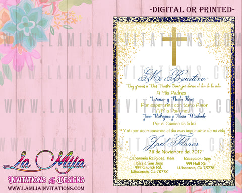 Bautizo Invitations, Customized Item, Bautizo Party, Spanish Bautizo Invitations, Baptism Spanish Invitations