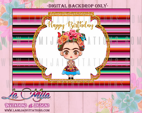 Frida Kahlo Backdrop, Frida Kahlo Party, Frida Kahlo Fiesta, Frida Kahlo Decoration - Addi Creations