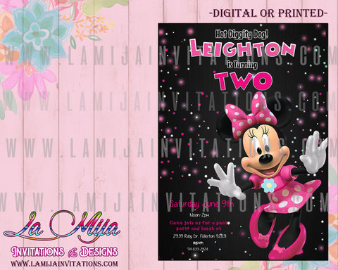 Minnie Mouse Birthday Invitations, Minnie Mouse Invitations, Minnie Mouse Party Invites, Invitaciones Minnie Mouse, Minnie Mouse Party Ideas