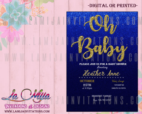 Oh Baby Invitations, Oh Baby Shower Invitations, Oh Baby Theme, Invitaciones Oh Baby, Invitaciones Baby Shower Nino