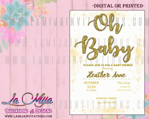 Oh Baby Invitations, Oh Baby Shower Invitations, Oh Baby Theme, Boy Baby Shower Invitations, Invitaciones Baby Shower