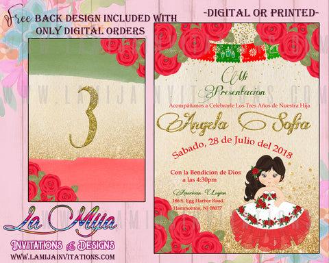 Presentacion Tres Anos Invitations, Charra Tres Anos Invitations, red and Gold Tres Anos, Red and Gold Charra, Invitaciones Presentacion de Tres Anos, Invitaciones Tres Anos, Tres Anos Charra Theme