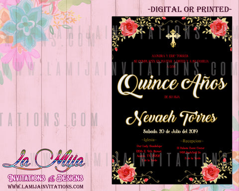 Quinceanera Invitations, Customized Item, Quince Anos Invites - Addi Creations