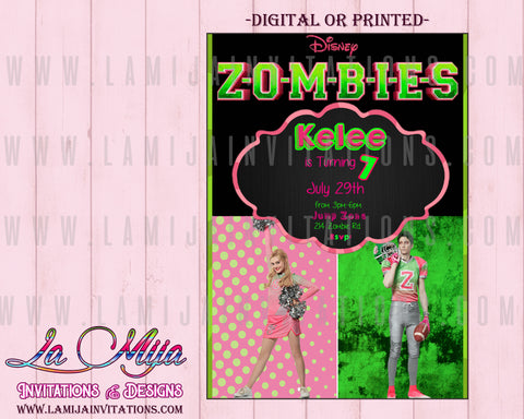 Zombies Disney Party, Customized Item, Zombies Disney Birthday, Zombies Disney Birthday Invitations, Zombies Disney Party Ideas, Zombies Disney - Addi Creations