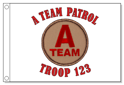 A-Team Patrol Flag - Red