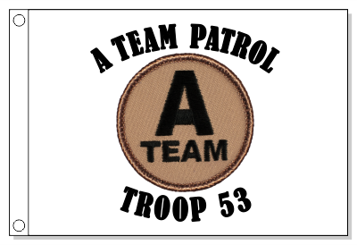 A-Team Patrol Flag - Black