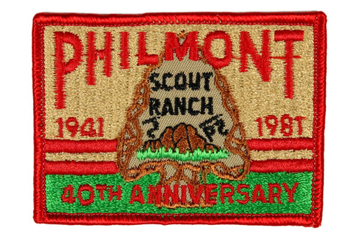 1981 Philmont 40th Anniversary Patch