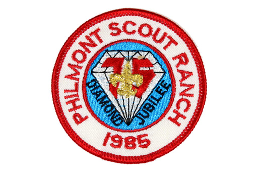 1985 Philmont Scout Ranch Diamond Jubilee Patch Red