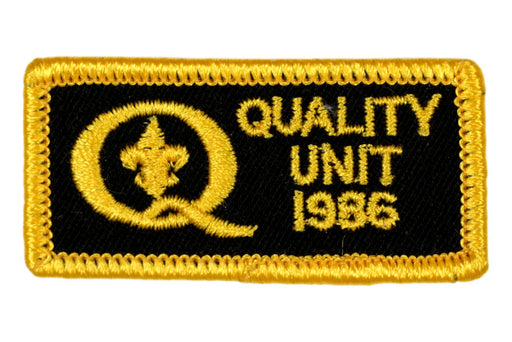 1986 Quality Unit Patch