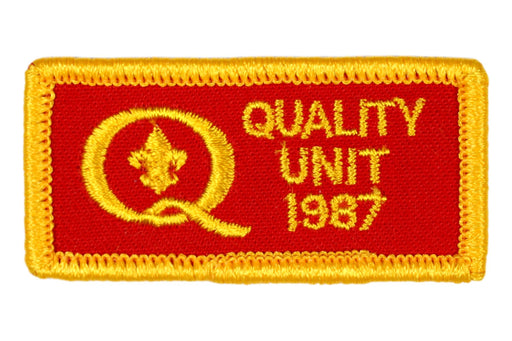 1987 Quality Unit Patch Square Corners