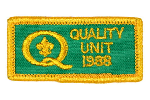 1988 Quality Unit Patch Square Corners