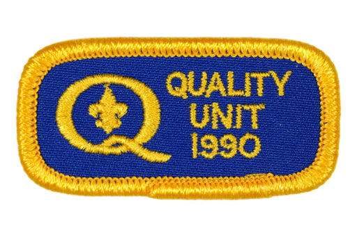 1990 Quality Unit Patch