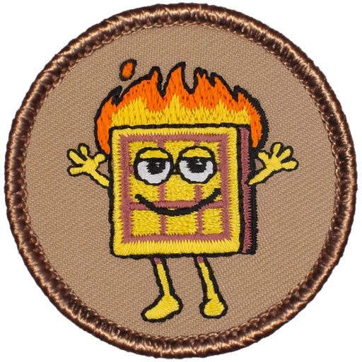 Flaming Waffle Patrol Patch