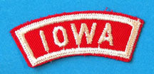 Iowa Red and White City State Strip