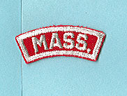 Massachusetts Red and White State Strip