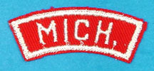 Michigan Red and White State Strip