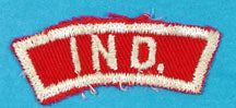 Indiana Red and White State Strip