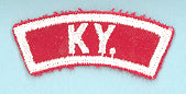 Kentucky Red and White State Strip