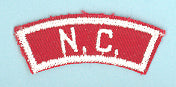 North Carolina Red and White State Strip