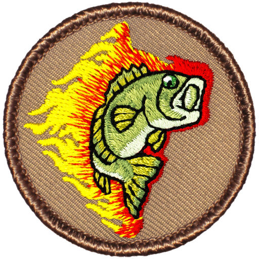 Bass Patrol Patch - Flaming