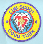 Cub Scout Good Turn Patch Plastic/Gauze Back