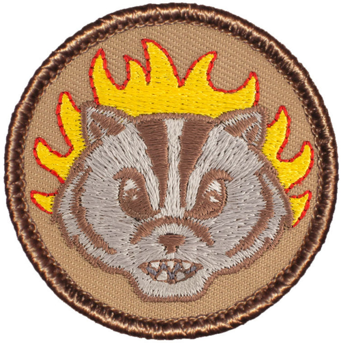 Badger Patrol Patch - Flaming Badger