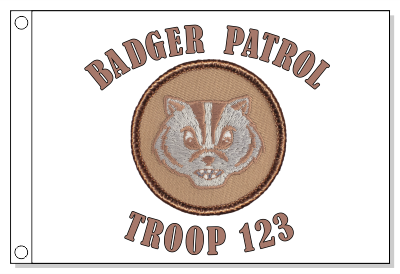 Badger Patrol Flag