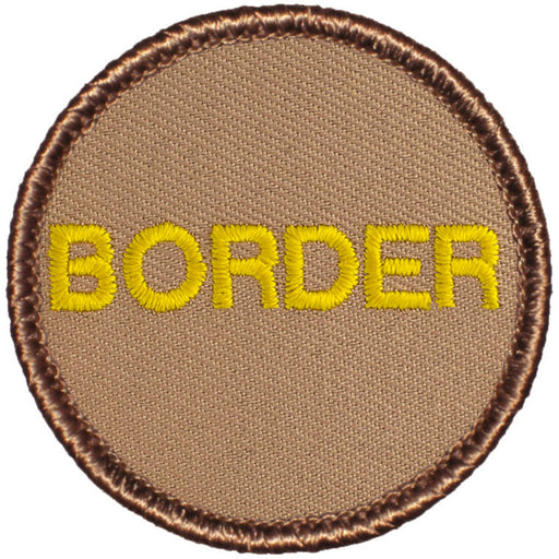 BORDER Text Patrol Patch