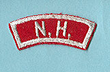 New Hampshire Red and White State Strip