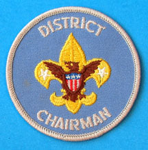 District Chairman Patch 1970s Gauze Back