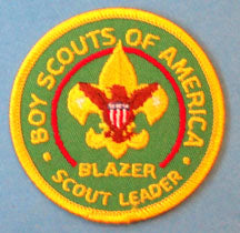 Blazer Scout Leader Patch 1970s Plastic Back