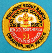 1960 Philmont Scout Ranch Patch
