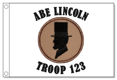 Abe Lincoln Patrol Flag