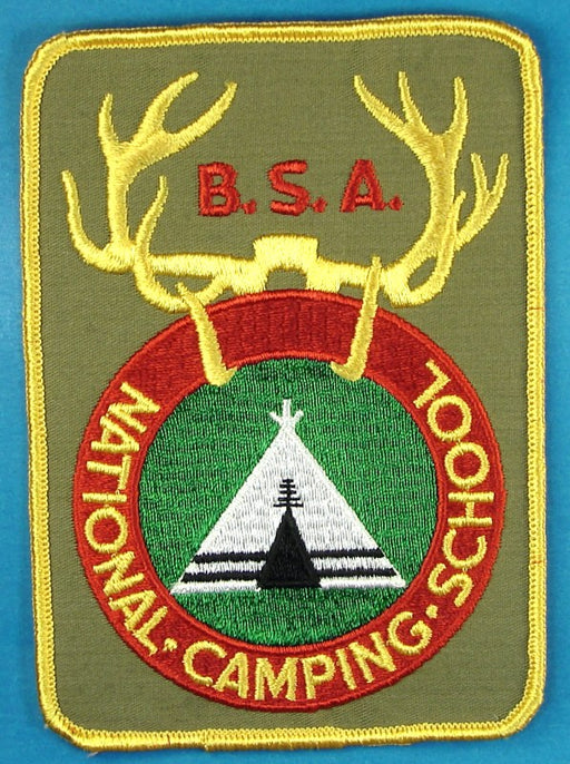 National Camping School Jacket Patch Khaki Plastic/Gauze Back