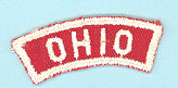 Ohio Red and White State Strip