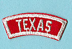 Texas Red and White State Strip
