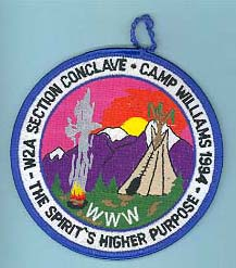 1994 Section W2A Conclave Patch Participant