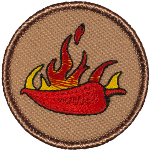 Flaming Jalapeno Patrol Patch - Red
