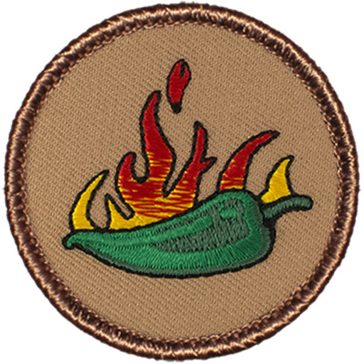 Flaming Jalapeno Patrol Patch - Green