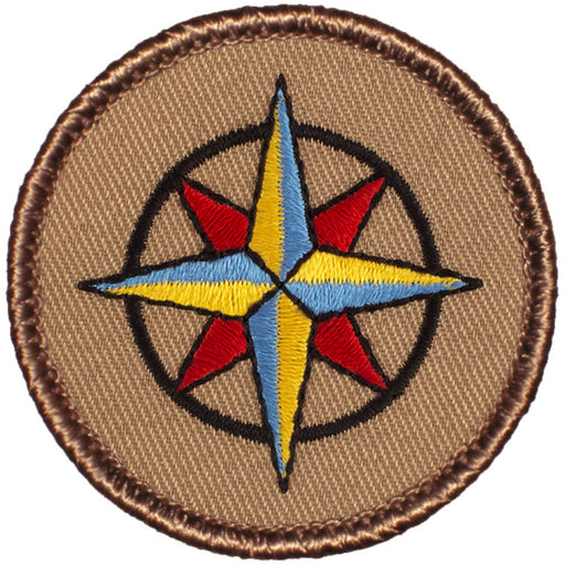 Compass Rose Patrol Patch - Tan
