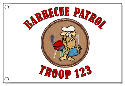 Barbecue Patrol Flag