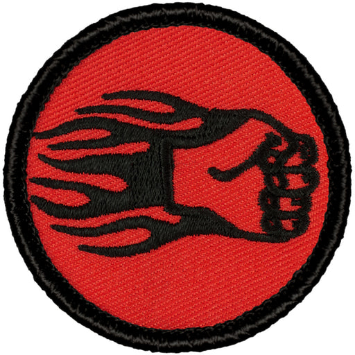 Retro Fiery Fist Of Pain Patrol Patch