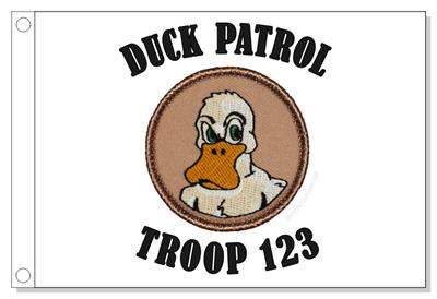 Angry Duck Patrol Flag - White