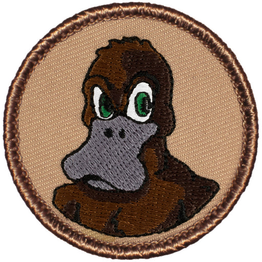 Angry Duck/Platypus Patrol Patch - Brown