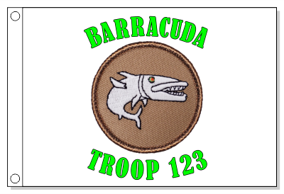 Barracuda Cartoon Flag - Glow (Flag does not glow)